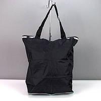 Сумка хозяйственная трансформер текстильная черная LeSports 9801, фото 1