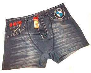 Трусы боксеры джинс 3110 котон размер синие XL(48-50), 3XL(52-54)