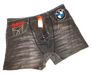 Трусы боксеры джинс 3110 котон размер черные XL(48-50), 2XL(50-52)