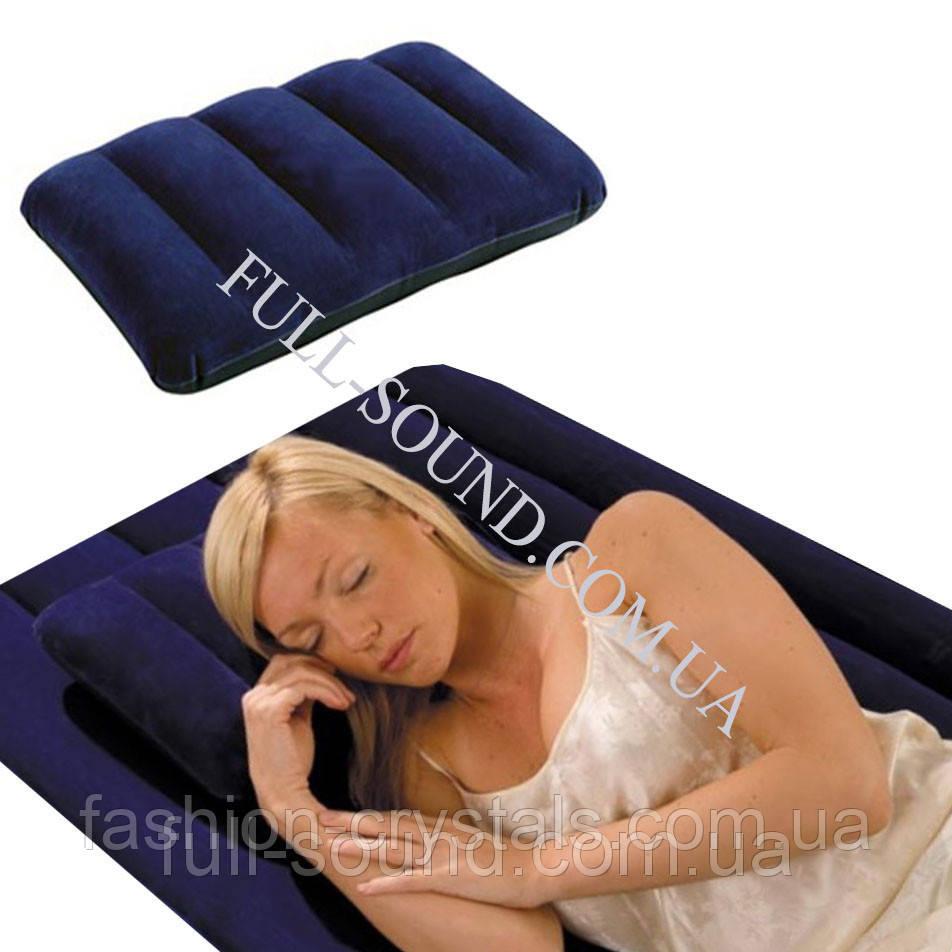 Удобная надувная подушка Intex. 3 цвета