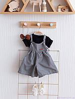 """Набір літнього одягу для дівчинки """"Simply Emily"""" чотири предмета, Чорно-білий"""