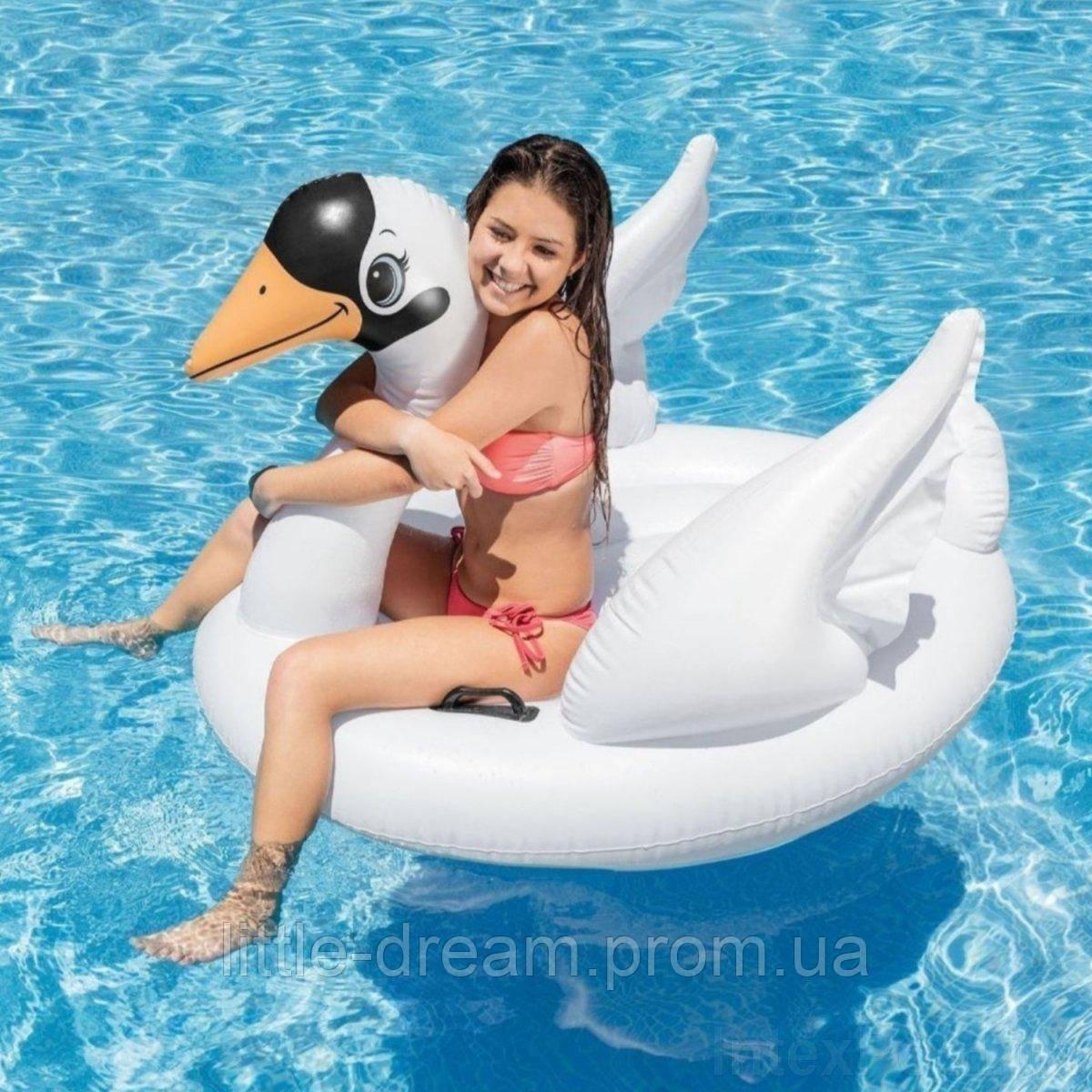 Надувной матрас ( надувной плот ) для катания ( для плавания ) Intex  «Лебедь», 130 х 102 х 99 см