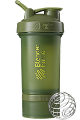 Шейкер спортивный BlenderBottle ProStak 650 ml с 2-мя контейнерами Moss Green, КОД: 977537