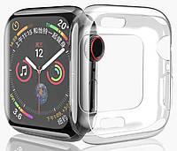 Прозрачный противоударный силиконовый бампер для Apple Watch 38мм 40мм 42мм 44мм
