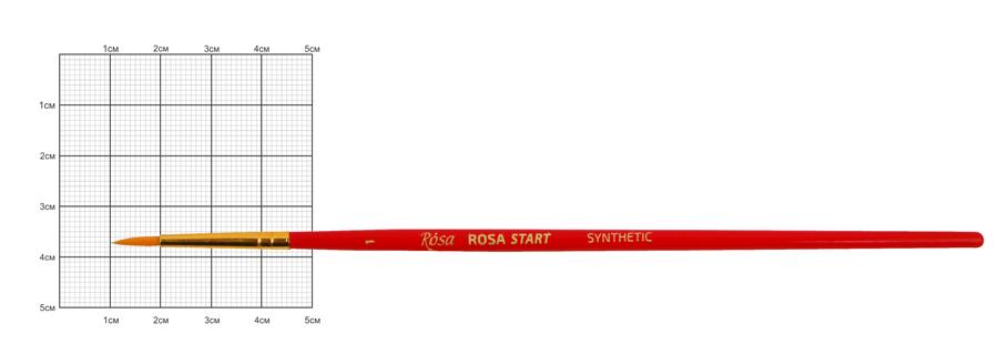 Синтетика круглая, № 1, к.р. кисть ROSA START