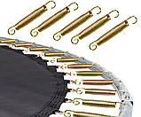 Батуты усиленной комплектацией для детей 427 см нагрузка до 260 кг MS 0501 с сеткой и лестницей, фото 6