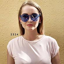 Сині окуляри без оправи