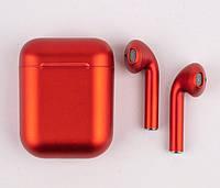 Наушники беспроводные красные i12 TWS AirPod 5.0 Bluetooth