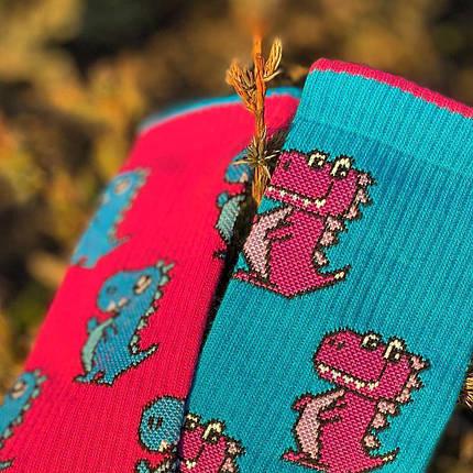 "Носки Дед Носкарь женские ""Драконы"" 36-40 розово-синие, фото 2"