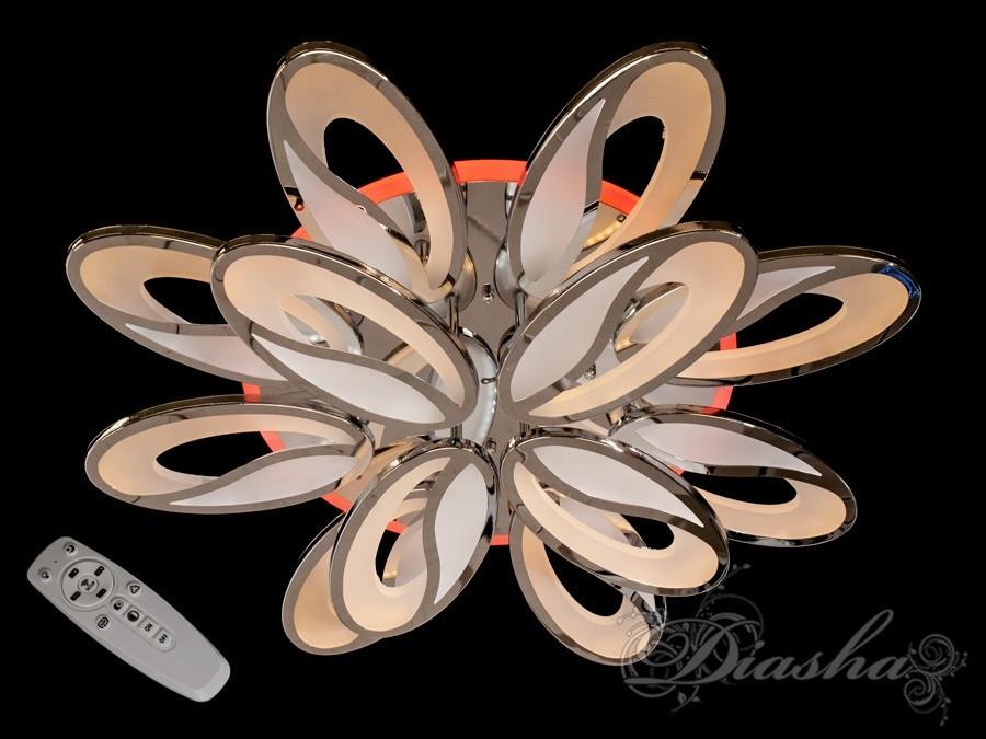 Потолочная люстра с диммером 8090/8+4HR LED 3color dimmer