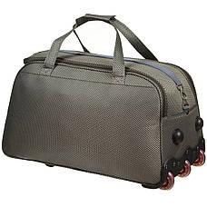 Дорожная сумка FILIPPINI большая  67х38х43 три колеса, выдвижная ручка цвет хаки ксТ0045хб, фото 3