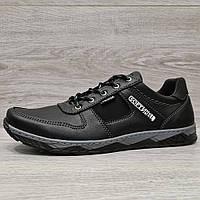 Кросівки чоловічі демісезонні на шнурівку прошиті (Кф-7чн)