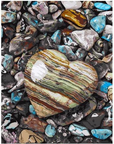 Картина по номерам BRUSHME Морские камни любви