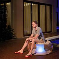 Надувное кресло Bestway 82 х 82 х 41 см с LED подсветкой