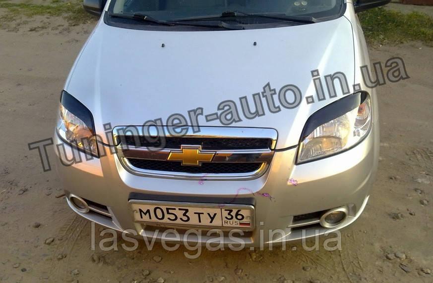 Вії на фари Chevrolet Aveo T250 2005-2012 (ANV)