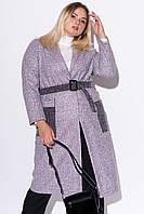 Пальто миди из букле с накладными карманами (50-52)