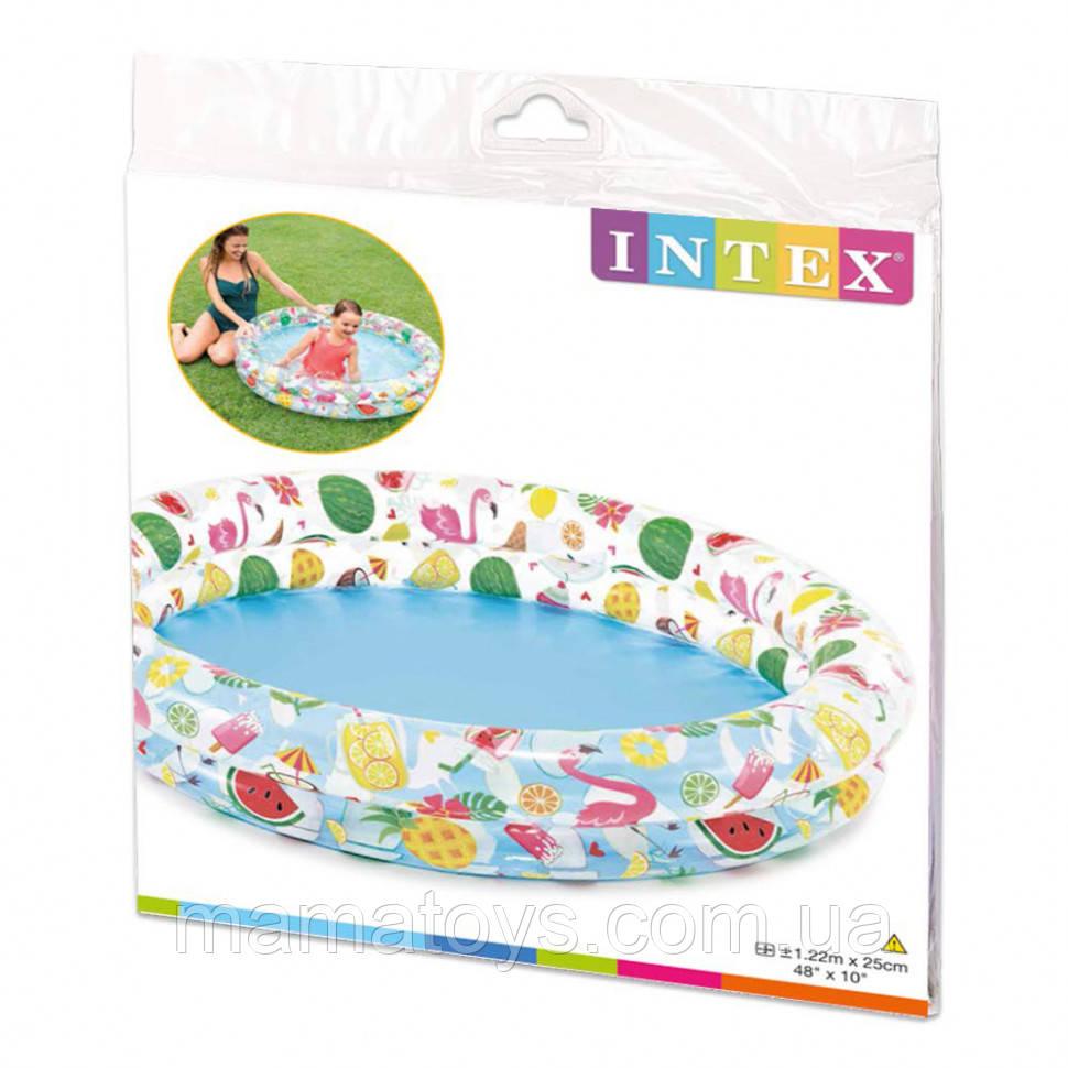 Детский надувной бассейн 59421 Intex Тропики Размер 122х25 см.