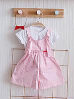 """Набор летней одежды для девочки """"Simply Emily"""" три предмета, Розовый"""