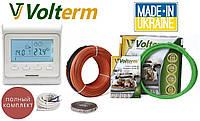 Теплый пол дома Volterm 15м²-18м² 2700Вт (150м) нагревательный кабель HR18Вт/м и терморегулятор E51