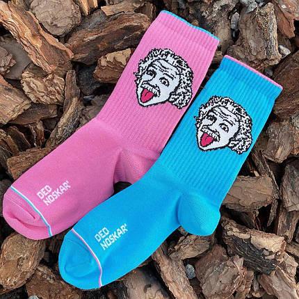 """Носки Дед Носкарь женские 36-40 """"Einstein"""" розово-голубые, фото 2"""