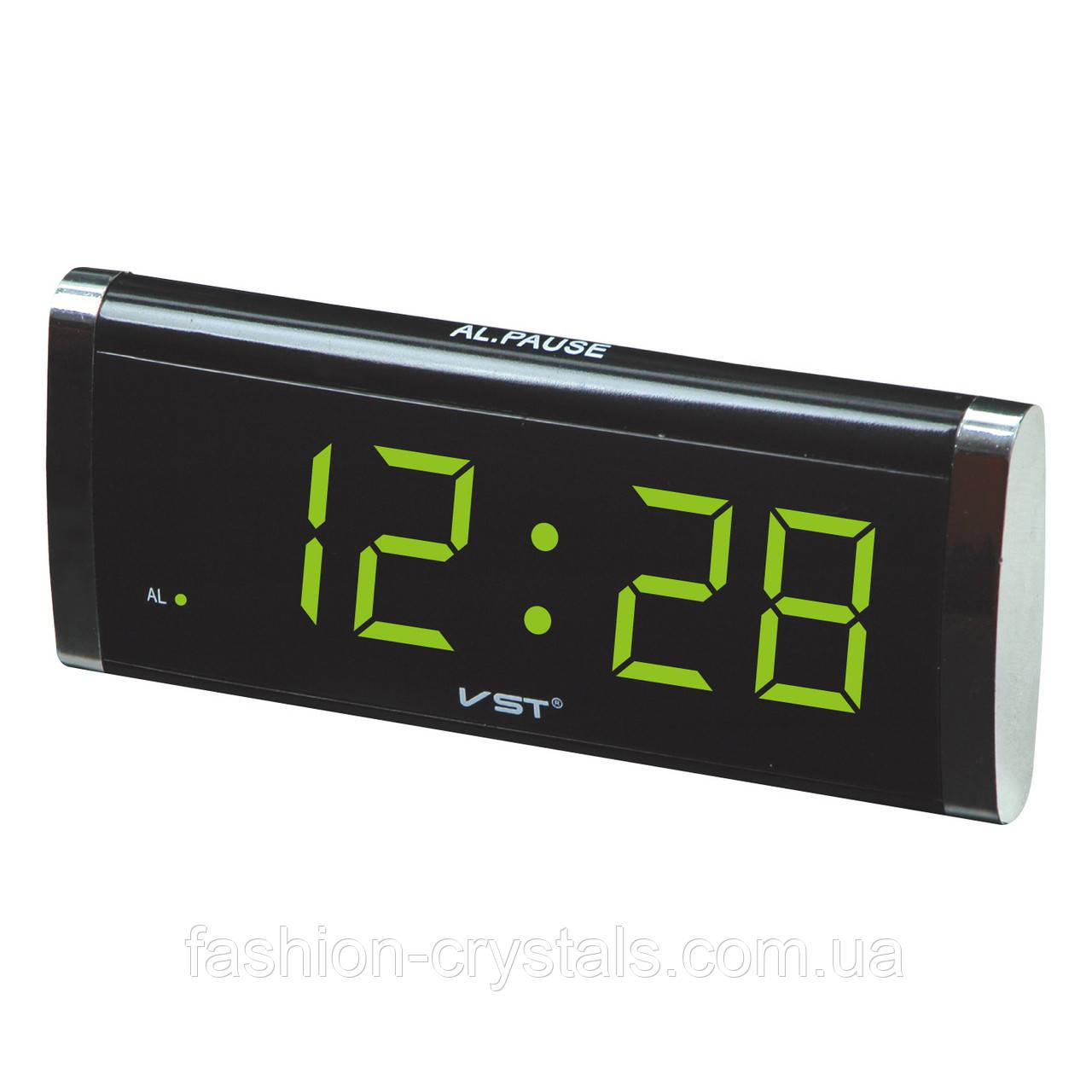 Электронные часы с будильником vst 730-2