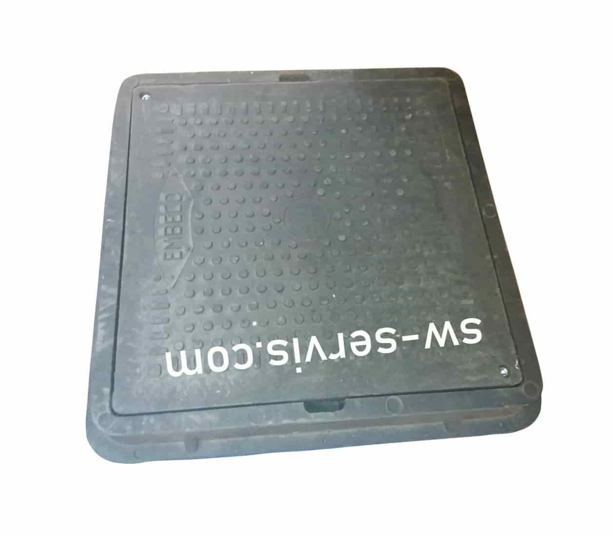 Люк полимерный квадратный 710х710 миллиметров черный