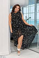 Летнее женское платье свободного кроя большого размера, размеры 50-52, 54-56, 58-60
