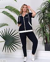Стильный женский спортивный костюм ботал, размеры: 48-50, 52-54, 56-58
