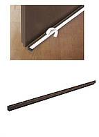 Щетка уплотнительная для двери Powerfix 100х4,6х1,4см Коричневый, Черный