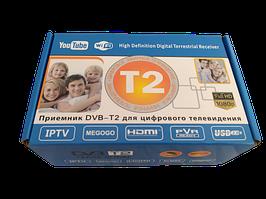 Цифровой тв тюнер для эфирного DVB T2 приема сигнала MEGOGO с поддержкой wi-fi адаптера