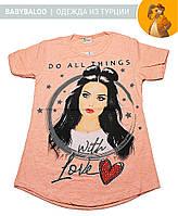"""Красива туніка для дівчинки """"LOVE"""" (від 5 до 8 років)"""