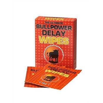 Серветки для затримки еякуляції Bull Power Wipes 6 шт. по 2 мл