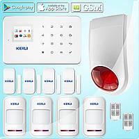Комплект беспроводной GSM сигнализации Kerui G18 plus + беспроводная сирена (FDHFYVHJFKF87F9F)