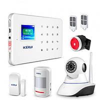 Комплект сигнализации GSM KERUI G-18 modern plus с Wi-Fi IP камерой Белый (HFGVCC28CHCBVGEO)