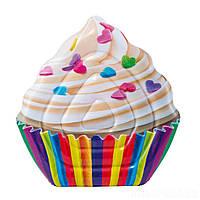 Плотик надувной Intex 58770 Cupcake 142x135 см (int_58770)