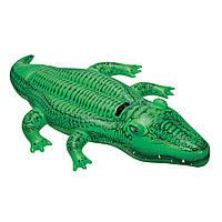 Плотик надувной Intex 58562 Крокодил  203x114 см (int_58562)