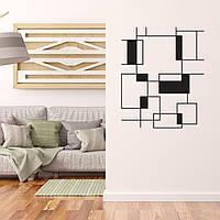 "Декор для стен. Панно из металла ""Геометрия 02"""