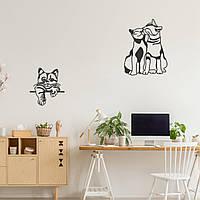 """Декор для стен. Панно из металла """"Котята"""""""