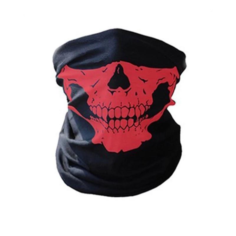 Бафф маска с рисунком черепа (Челюсть) Красная, Унисекс