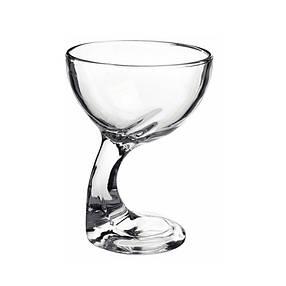 Креманка стеклянная круглая на изогнутой ножке HLS 250 мл (6119к), фото 2