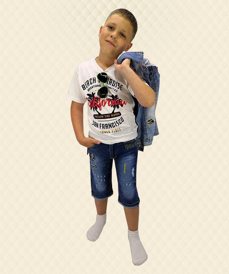 Бриджи джинсовые стрейчевые Born-Wear