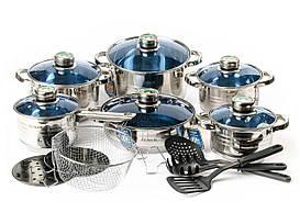 Набор посуды Zumer 18 предметов из нержавеющей стали 9 слойное дно (ZM-787)