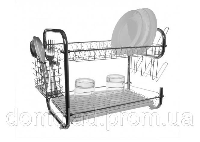 Двоярусне Сушарка Для Посуду З Нержавіючої Сталі UNIQUE UN-2001