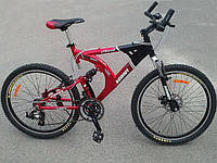 "Спортивный велосипед Azimut Scorpion B+ 26"" red"