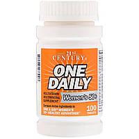 Ежедневные Мультивитамины и Минералы для Женщин 50+, 21st Century, One Daily, 100 таблеток