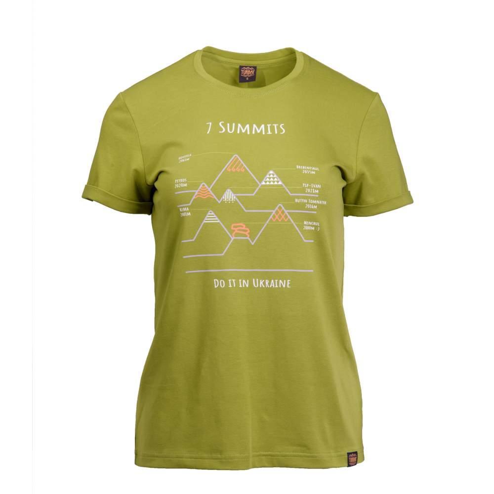 Футболка жіноча Turbat 7 SUMMITS M Green