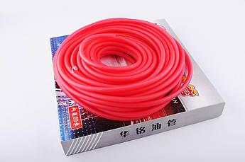 Шланг топливный Ø4мм, 20 метров (силиконовый, красный)