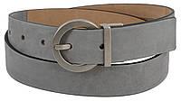 Женский ремень, пояс из нубука Tod's, Италия, S31C43-3 серый