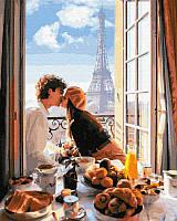 Картина по номерам Свидание в Париже, 40x50 см, подарочная упаковка, Brushme (Брашми)