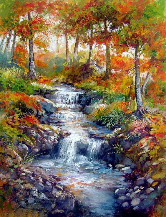 DM-267 Набор алмазной живописи Лесной ручей